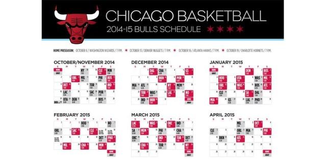 bulls 2014-15 schedule