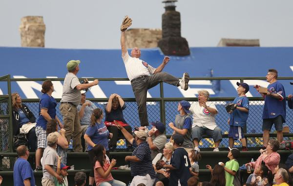 the catch at wrigley field